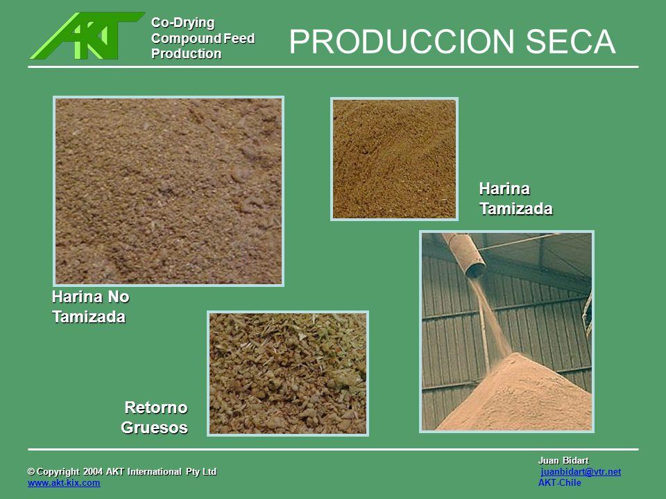 Co-Drying Compound Feed Production © Copyright 2004 AKT International Pty Ltd © Copyright 2004 AKT International Pty Ltd www.akt-kix.com Juan Bidart juanbidart@vtr.net AKT-Chile PRODUCTOS FINALES ALIMENTO COMPUESTO PELLET