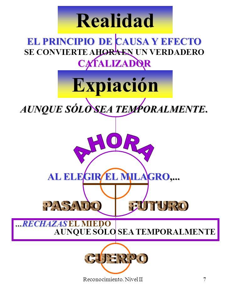 Reconocimiento. Nivel II7 Realidad Expiación EL PRINCIPIO DE CAUSA Y EFECTO CATALIZADOR SE CONVIERTE AHORA EN UN VERDADERO CATALIZADOR AUNQUE SÓLO SEA