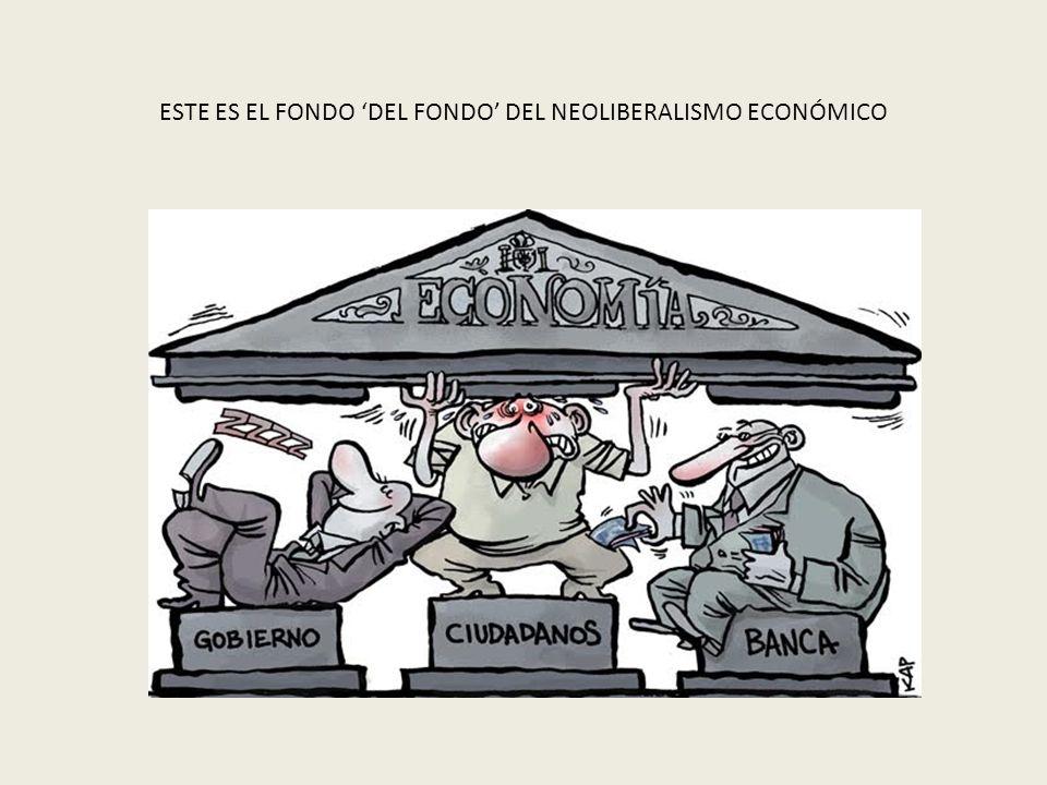 ESTE ES EL FONDO DEL FONDO DEL NEOLIBERALISMO ECONÓMICO