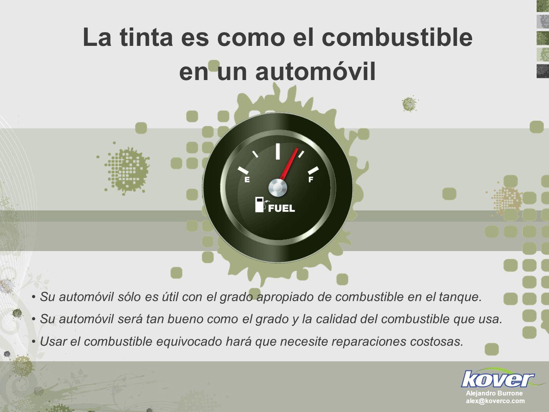 La tinta está formada por 2 componentes principales RESINAPIGMENTOSOLVENTE 2 Componente Húmedo 1 Componente Seco Alejandro Burrone alex@koverco.com