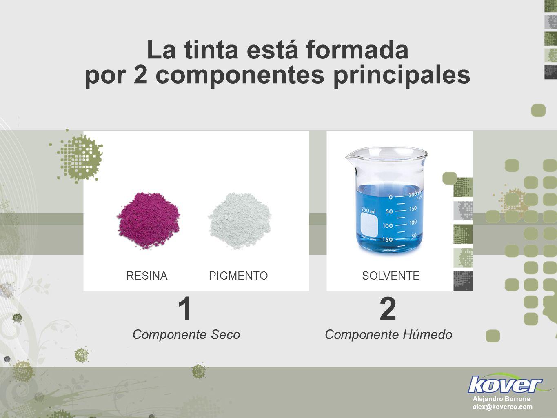 El componente seco de la tinta RESINAPIGMENTO Alejandro Burrone alex@koverco.com