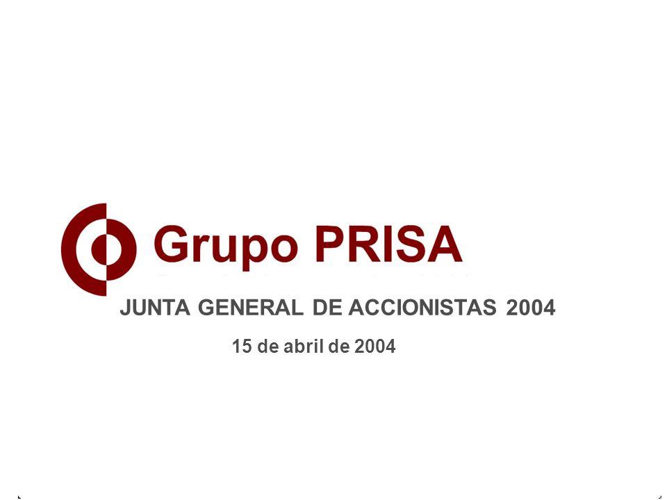 1 JUNTA GENERAL DE ACCIONISTAS 2004 15 de abril de 2004
