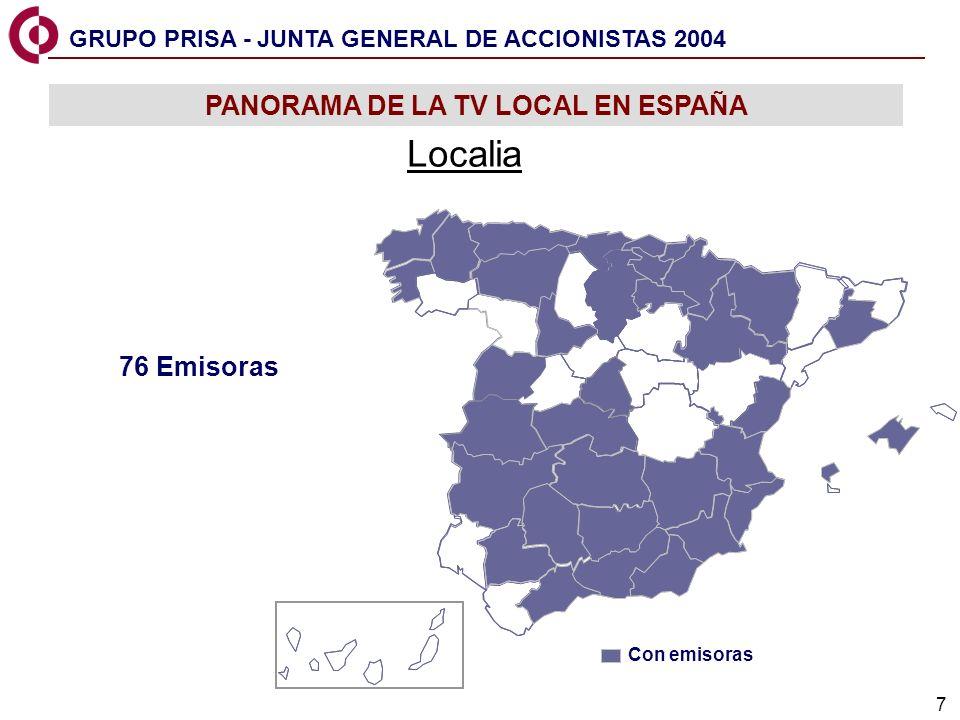 8 JUNTA GENERAL DE ACCIONISTAS 2004