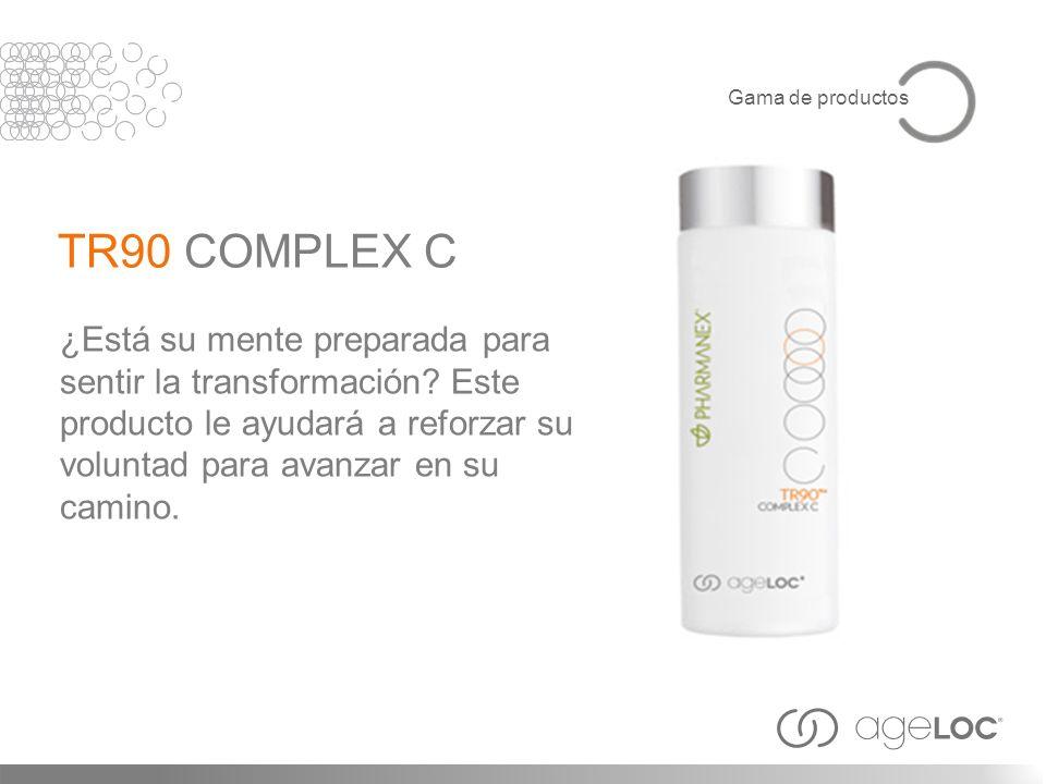¿Está su mente preparada para sentir la transformación? Este producto le ayudará a reforzar su voluntad para avanzar en su camino. TR90 COMPLEX C Gama