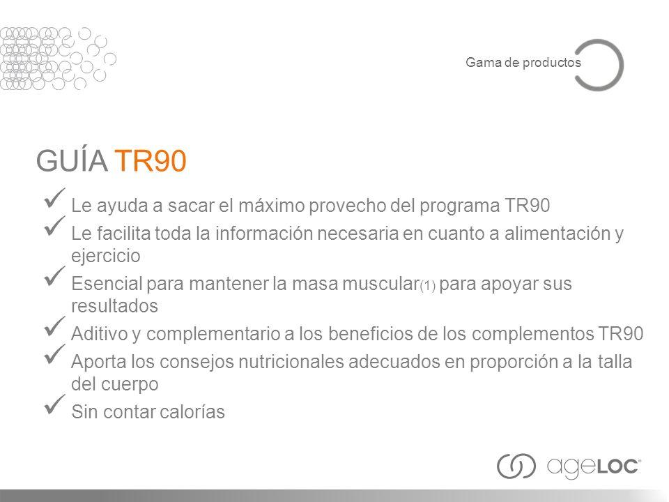 Le ayuda a sacar el máximo provecho del programa TR90 Le facilita toda la información necesaria en cuanto a alimentación y ejercicio Esencial para man