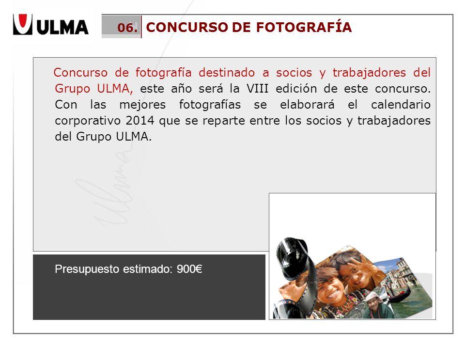 06. CONCURSO DE FOTOGRAFÍA Concurso de fotografía destinado a socios y trabajadores del Grupo ULMA, este año será la VIII edición de este concurso. Co