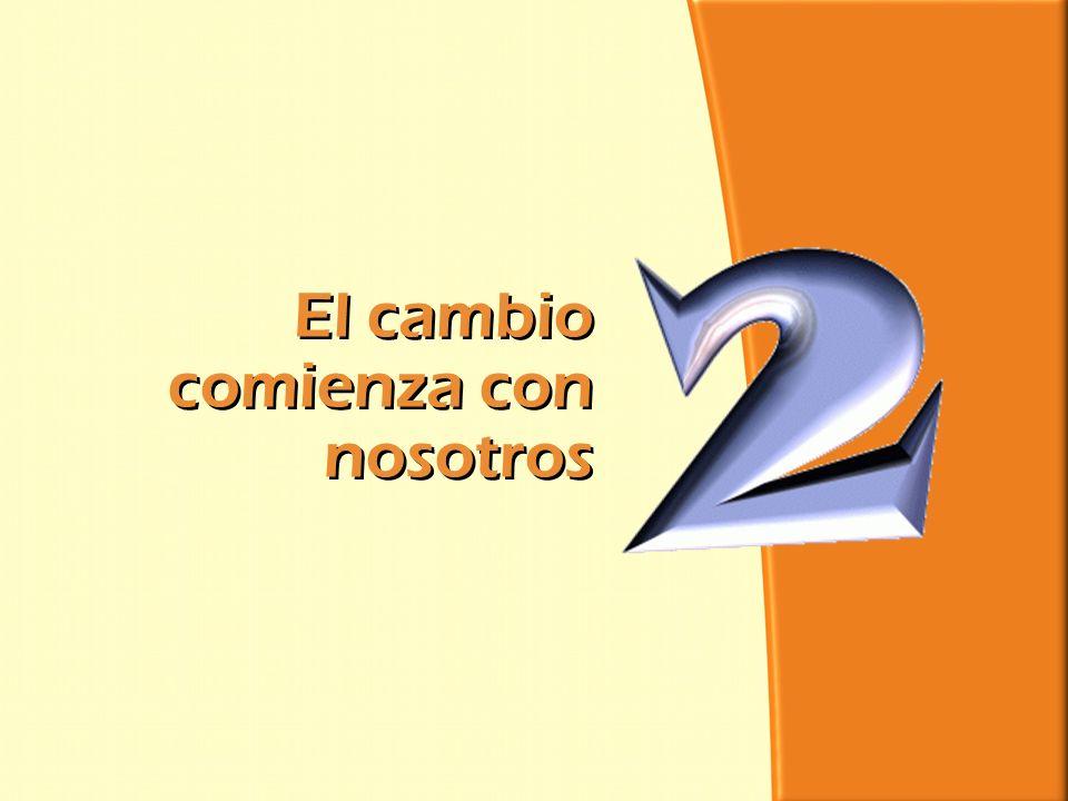 División Interamericana/Ministerio Personal El cambio comienza con nosotros El cambio comienza con nosotros