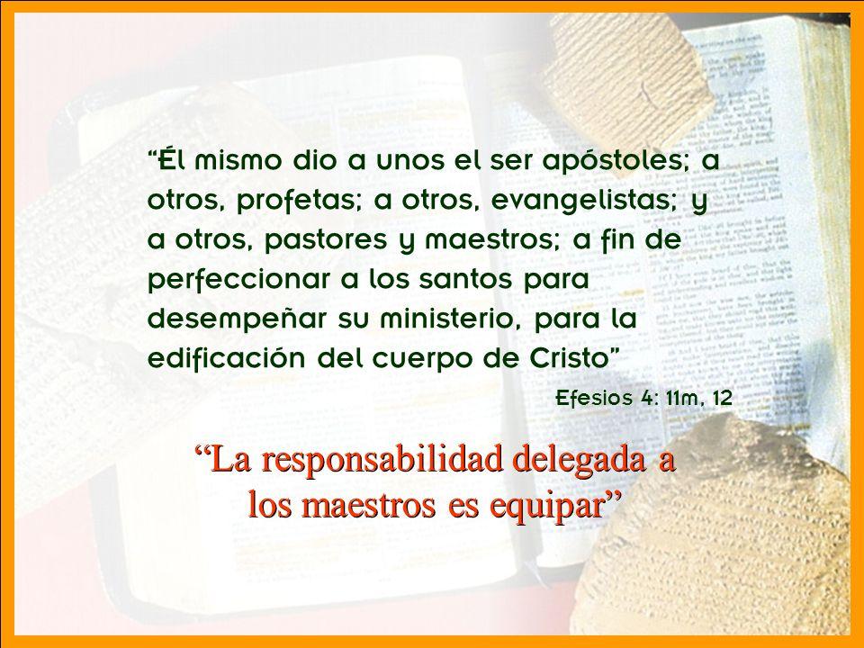 División Interamericana/Ministerio Personal Él mismo dio a unos el ser apóstoles; a otros, profetas; a otros, evangelistas; y a otros, pastores y maes