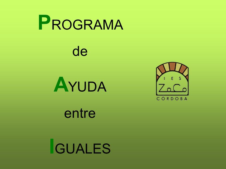 P ROGRAMA de A YUDA entre I GUALES