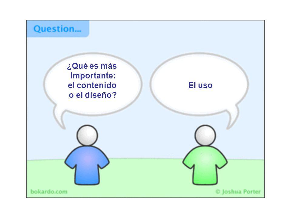 ¿Qué es más Importante: el contenido o el diseño? El uso