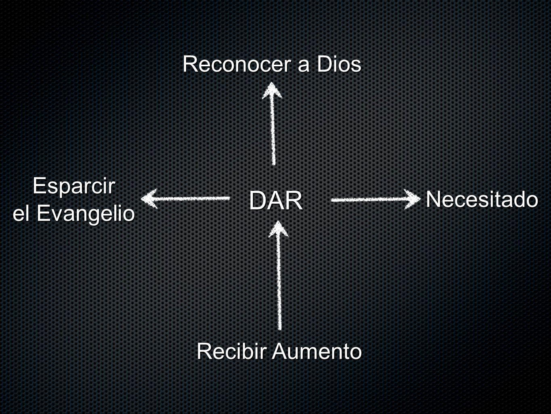 DAR Reconocer a Dios Esparcir el Evangelio Necesitado Recibir Aumento