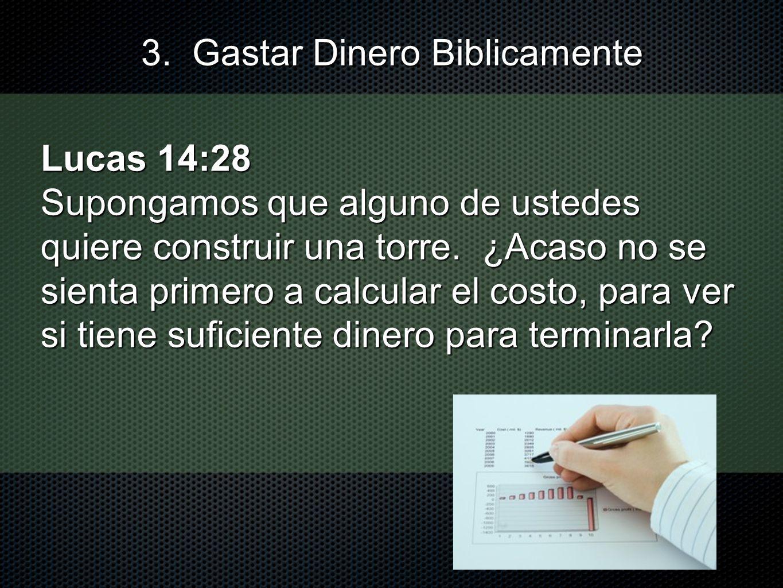 Lucas 14:28 Supongamos que alguno de ustedes quiere construir una torre. ¿Acaso no se sienta primero a calcular el costo, para ver si tiene suficiente
