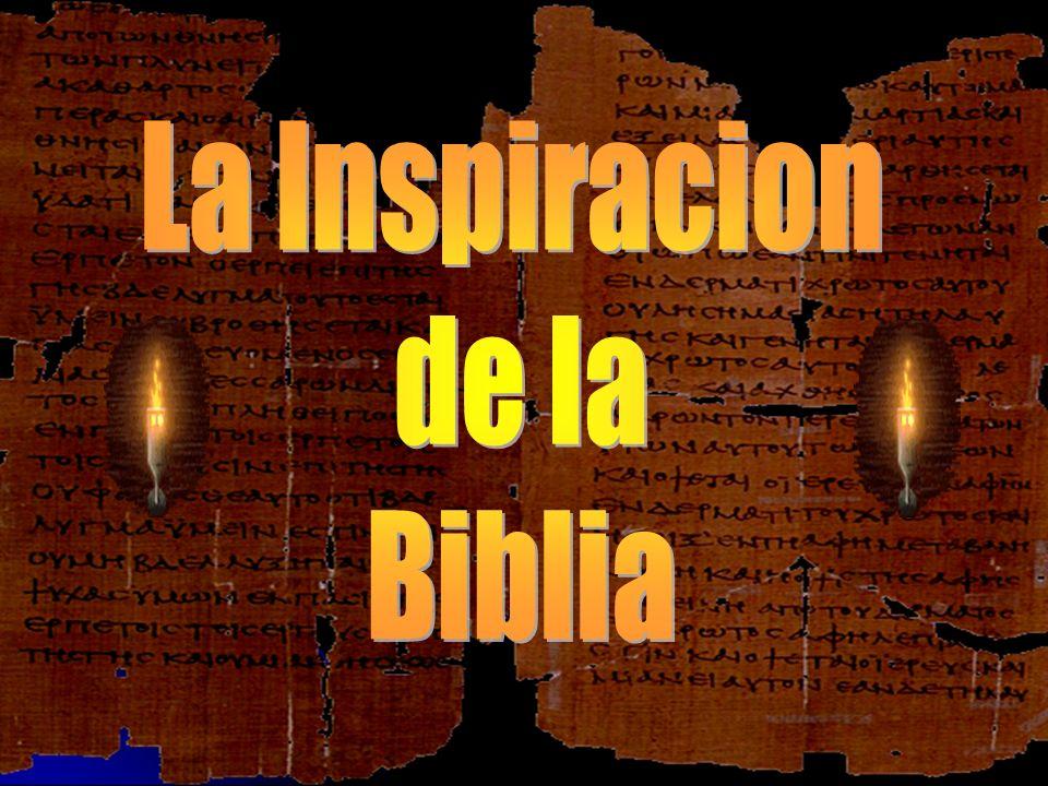 ¿Cual es su convicción en cuanto a la Biblia.¿Cual es su convicción en cuanto a la Biblia.