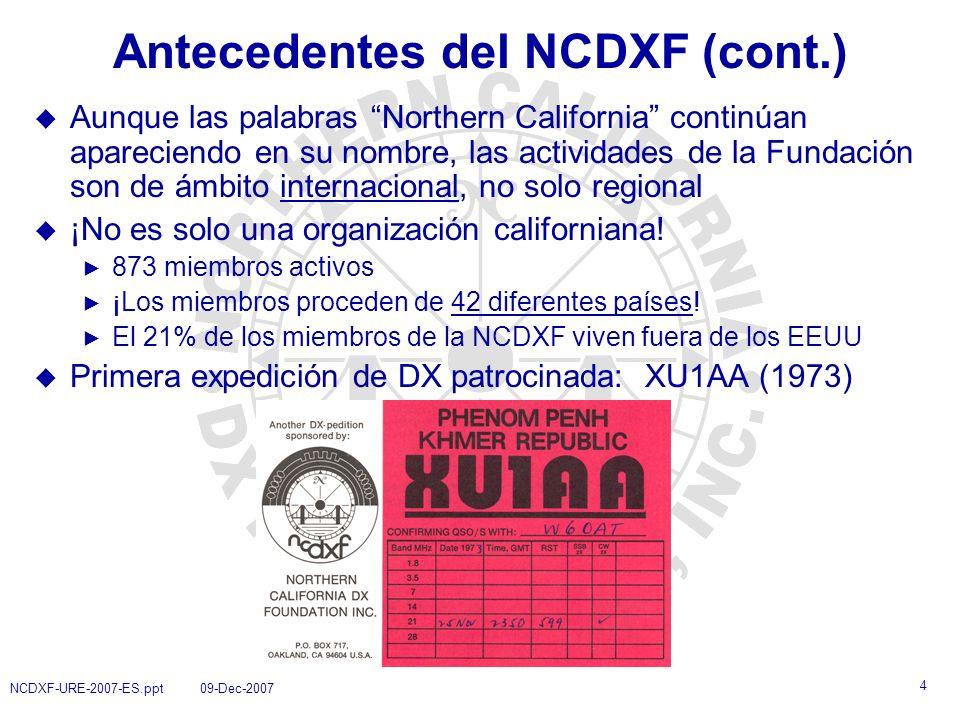 15 NCDXF-URE-2007-ES.ppt 09-Dec-2007 ¿Preguntas?