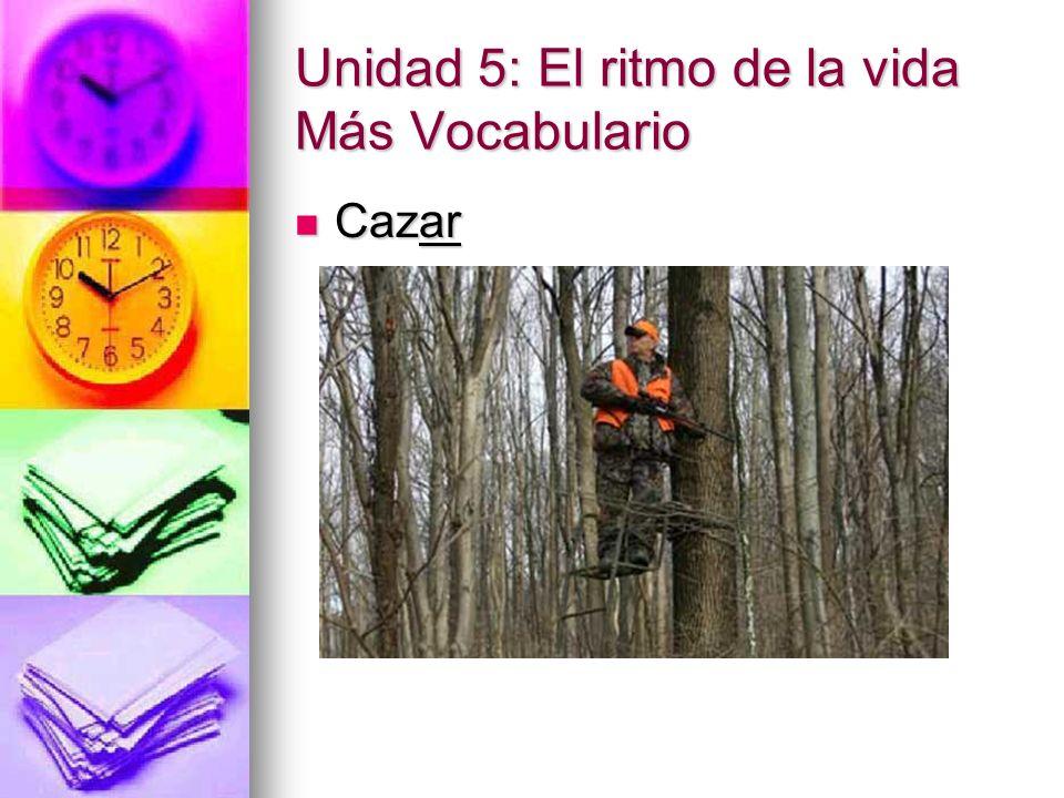 Unidad 5: El ritmo de la vida Más Vocabulario Cazar Cazar