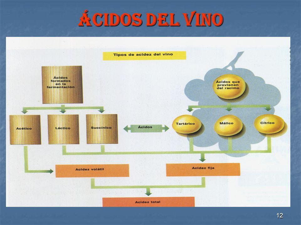 12 ácidos del vino