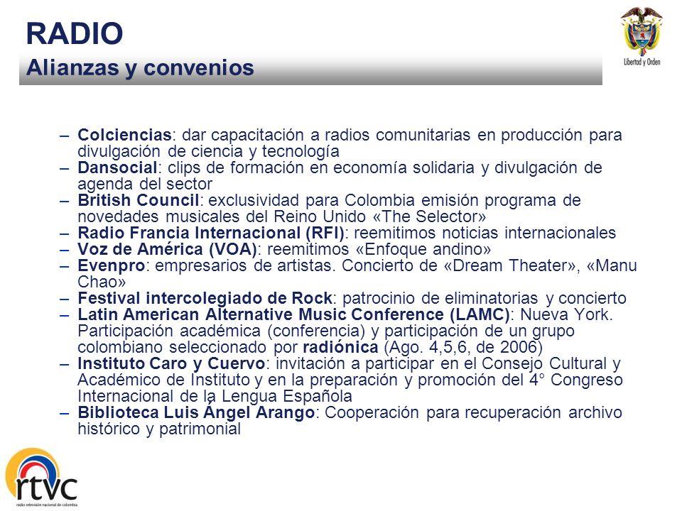 Canal Institucional TELEVISIÓN Licitación Pública 005. Por valor de doscientos cincuenta millones de pesos, para la realización audiovisual del progra
