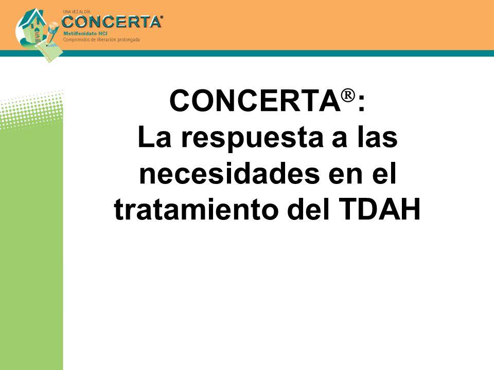 CONCERTA : La respuesta a las necesidades en el tratamiento del TDAH