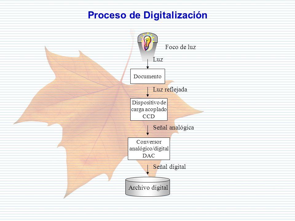 Departamento de Informática Tributaria Documento Foco de luz Luz Luz reflejada Dispositivo de carga acoplado CCD Señal analógica Conversor analógico/d
