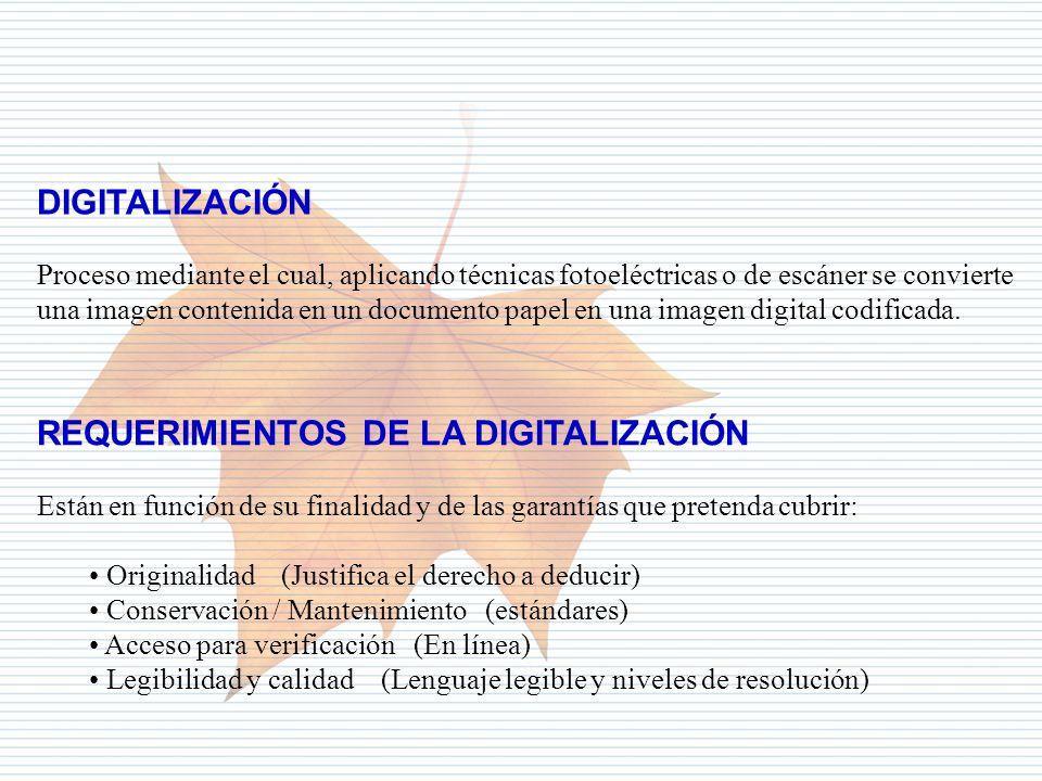 Departamento de Informática Tributaria DIGITALIZACIÓN Proceso mediante el cual, aplicando técnicas fotoeléctricas o de escáner se convierte una imagen