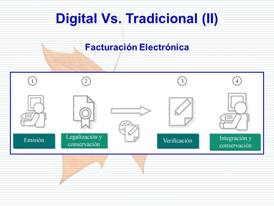 Departamento de Informática Tributaria Digital Vs. Tradicional (II) Facturación Electrónica