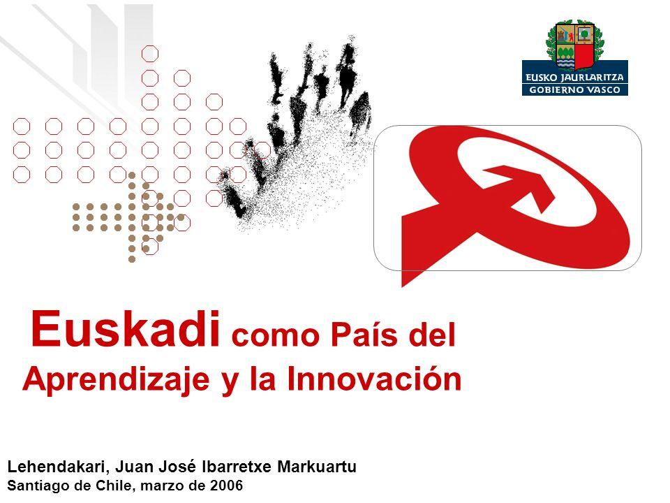 Euskadi como País del Aprendizaje y la Innovación Lehendakari, Juan José Ibarretxe Markuartu Santiago de Chile, marzo de 2006