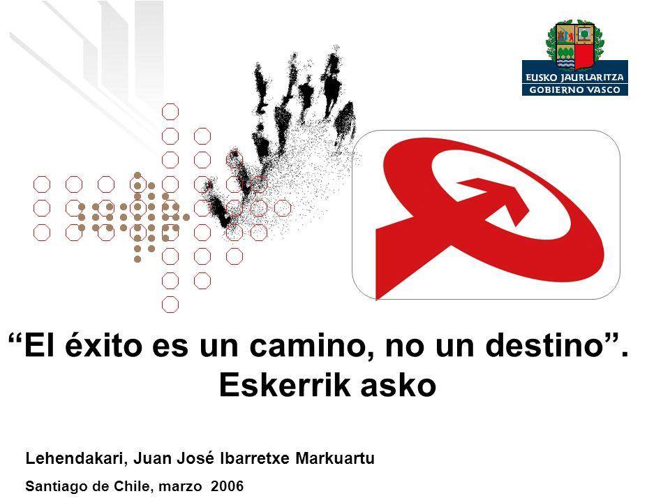 El éxito es un camino, no un destino. Eskerrik asko Lehendakari, Juan José Ibarretxe Markuartu Santiago de Chile, marzo 2006