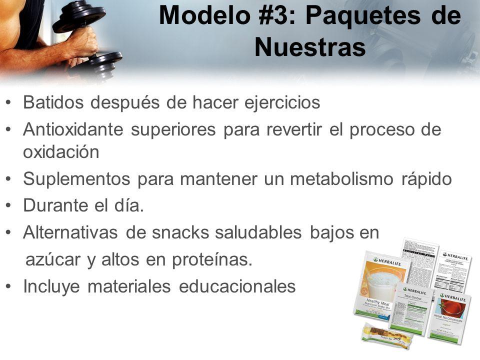 Modelo #3: Paquetes de Nuestras Batidos después de hacer ejercicios Antioxidante superiores para revertir el proceso de oxidación Suplementos para man