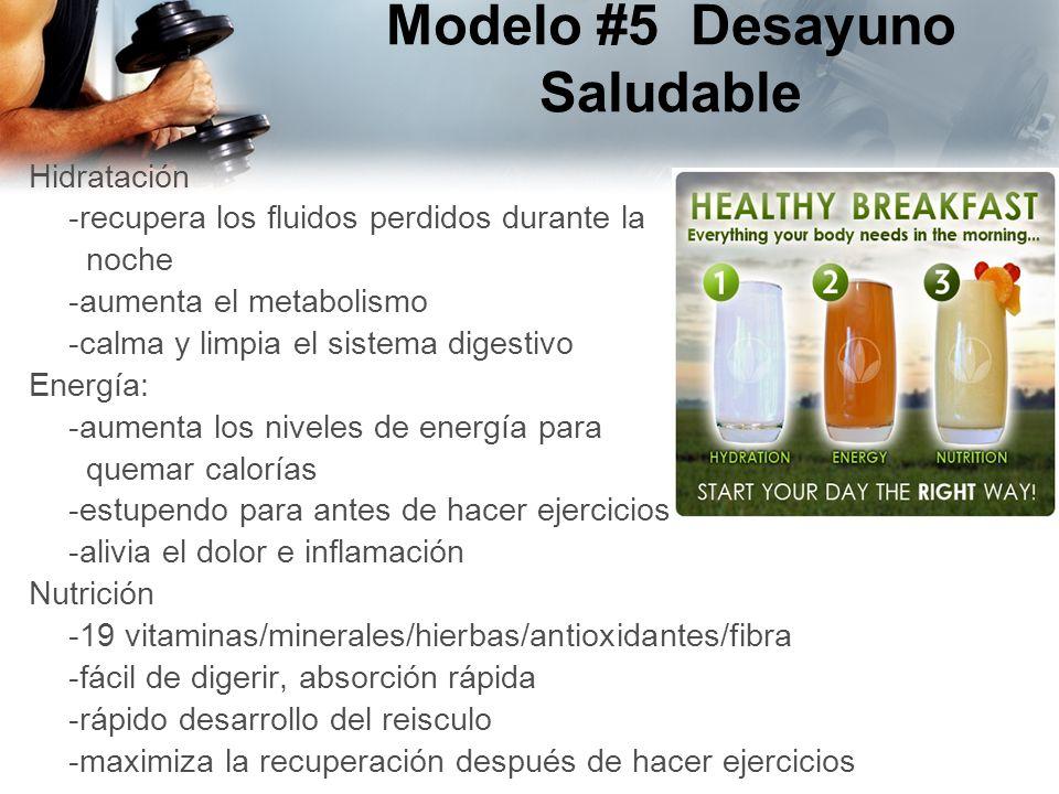 Hidratación -recupera los fluidos perdidos durante la noche -aumenta el metabolismo -calma y limpia el sistema digestivo Energía: -aumenta los niveles