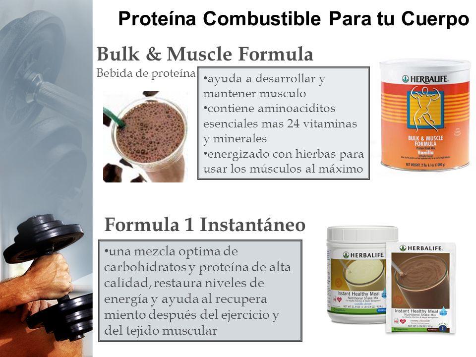 Proteína Combustible Para tu Cuerpo Bulk & Muscle Formula Bebida de proteína una mezcla optima de carbohidratos y proteína de alta calidad, restaura n