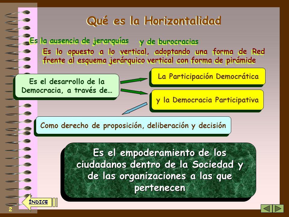 Fundamentos sobre los que se basan las Organizaciones Horizontales Fundamentos sobre los que se basan las Organizaciones Horizontales Creative Commons