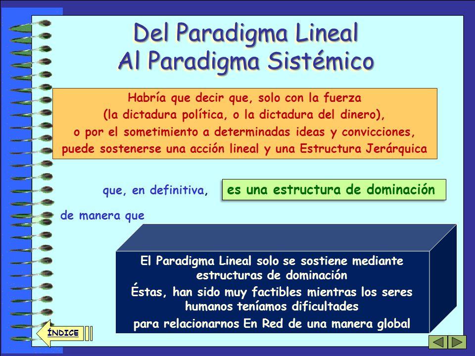 33 ÍNDICE Del Paradigma Lineal Al Paradigma Sistémico La Sociedad Humana, también es una red muy compleja… (de ahí lo impredecible de su evolución) …y