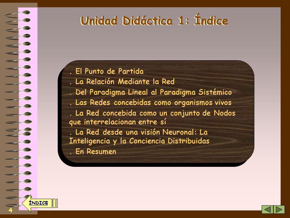 24 ÍNDICE El segundo nivel y pasa a comunicarse con otras personas la persona deja de comunicarse unilateralmente con el sistema nace la solidaridad 24 En este nivel se configura la llamada Web 2.0, típica de las Redes Sociales ÍNDICE