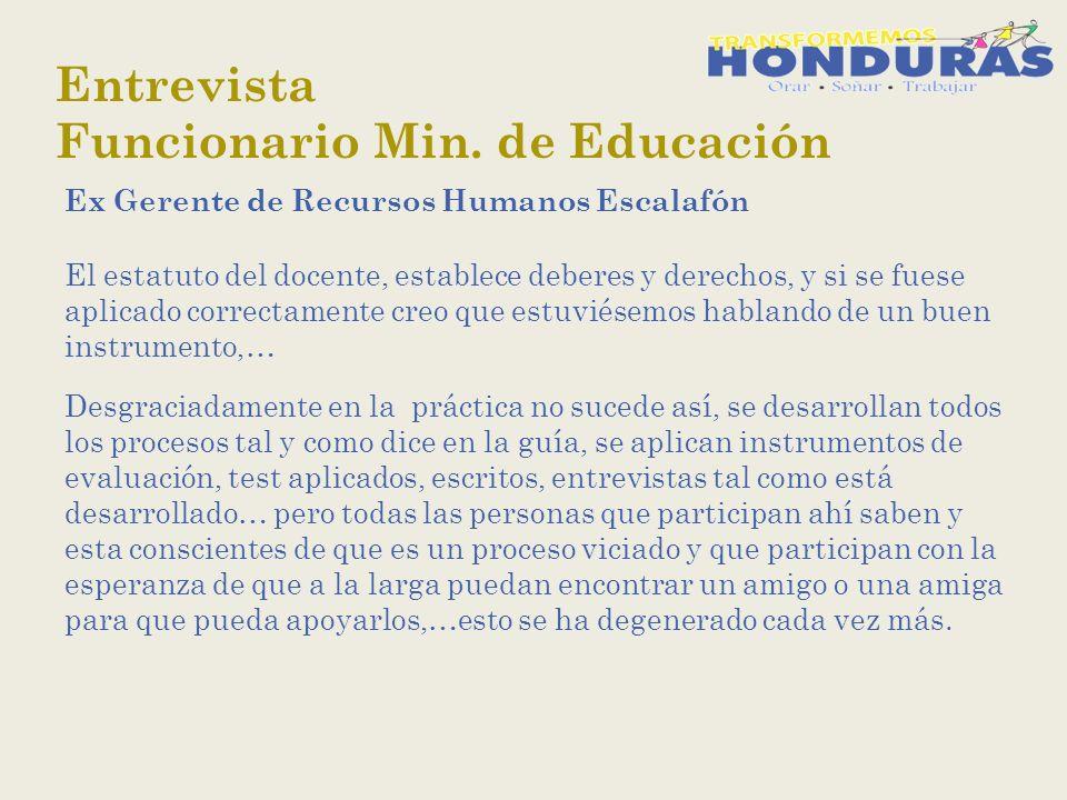 Entrevista Funcionario Min.