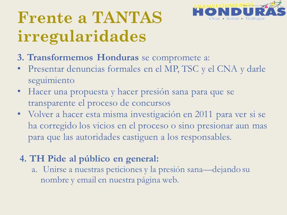 Frente a TANTAS irregularidades 3.