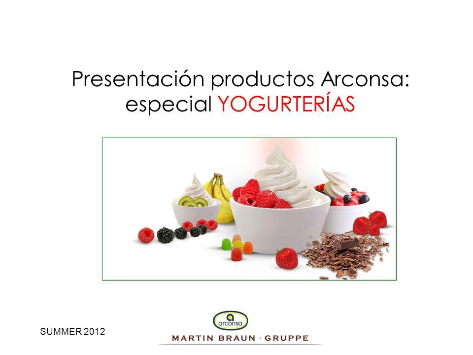 SUMMER 2012 Presentación productos Arconsa: especial YOGURTERÍAS