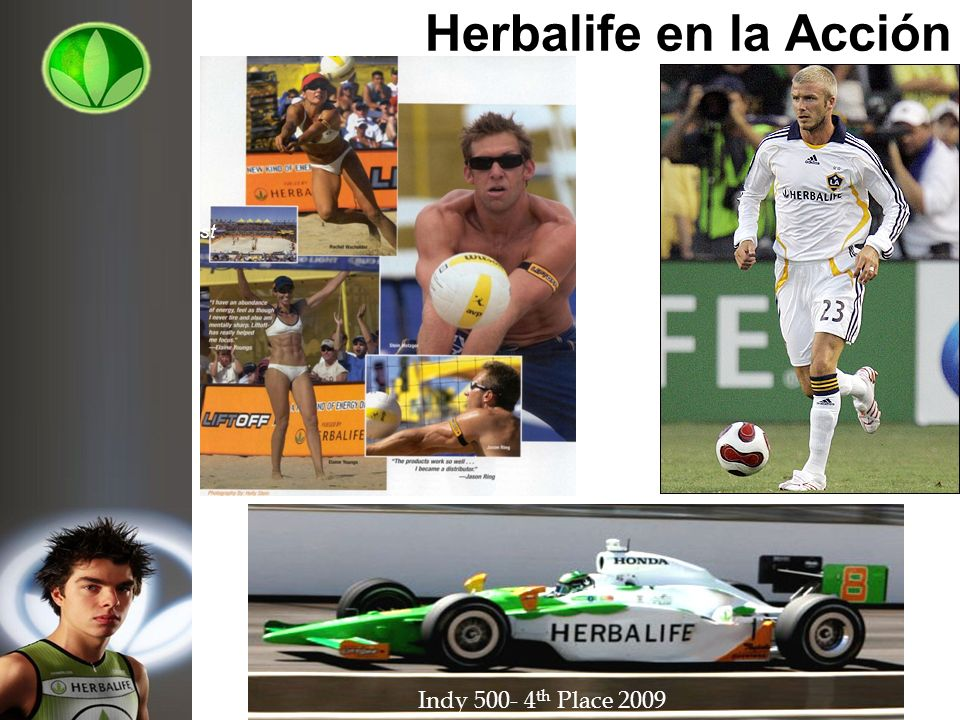 Herbalife en la Acción Indy 500- 4 th Place 2009 Elaine Young Olympic Gold Medalist