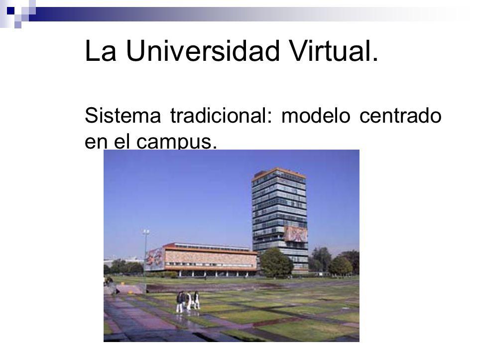 La Universidad Virtual. Sistema tradicional: modelo centrado en el campus.