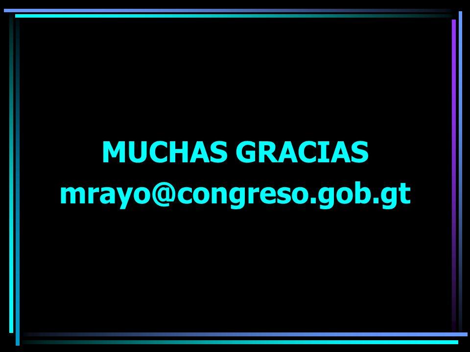 MUCHAS GRACIAS mrayo@congreso.gob.gt