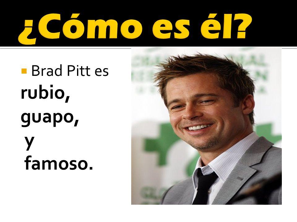 Brad Pitt es rubio, guapo, y famoso.
