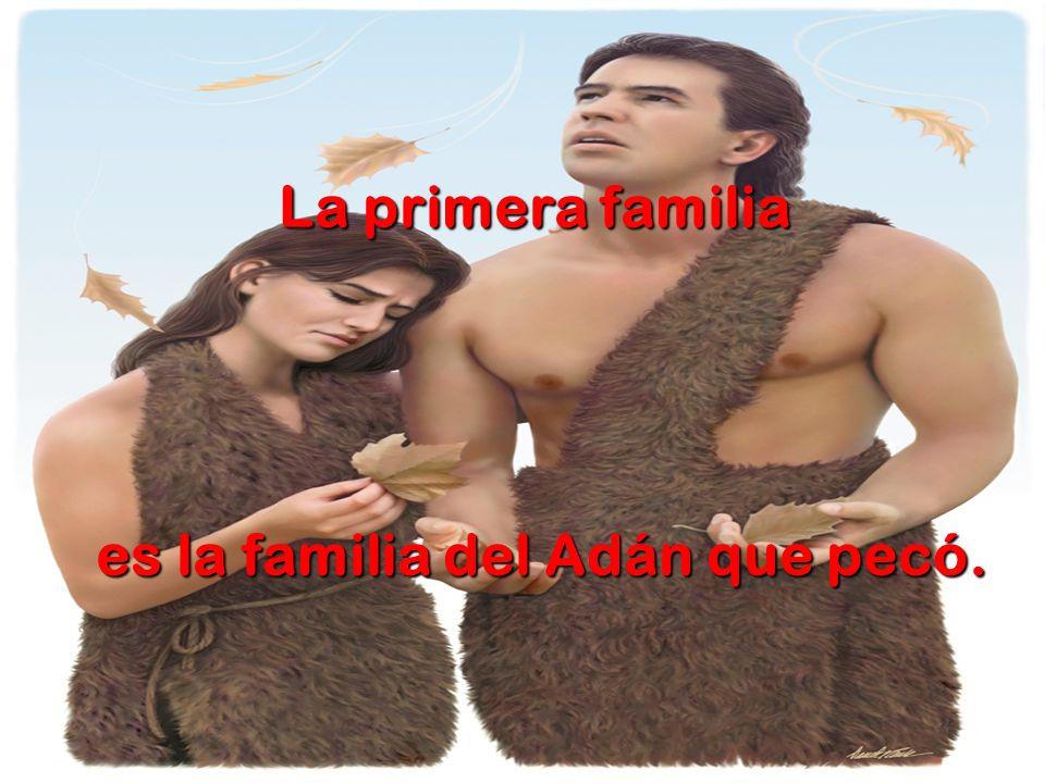 La primera familia es la familia del Adán que pecó.