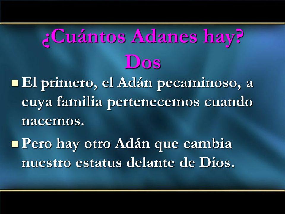 ¿Cuántos Adanes hay? Dos El primero, el Adán pecaminoso, a cuya familia pertenecemos cuando nacemos. El primero, el Adán pecaminoso, a cuya familia pe