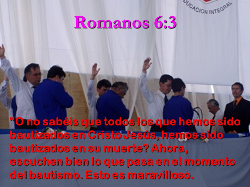Romanos 6:3