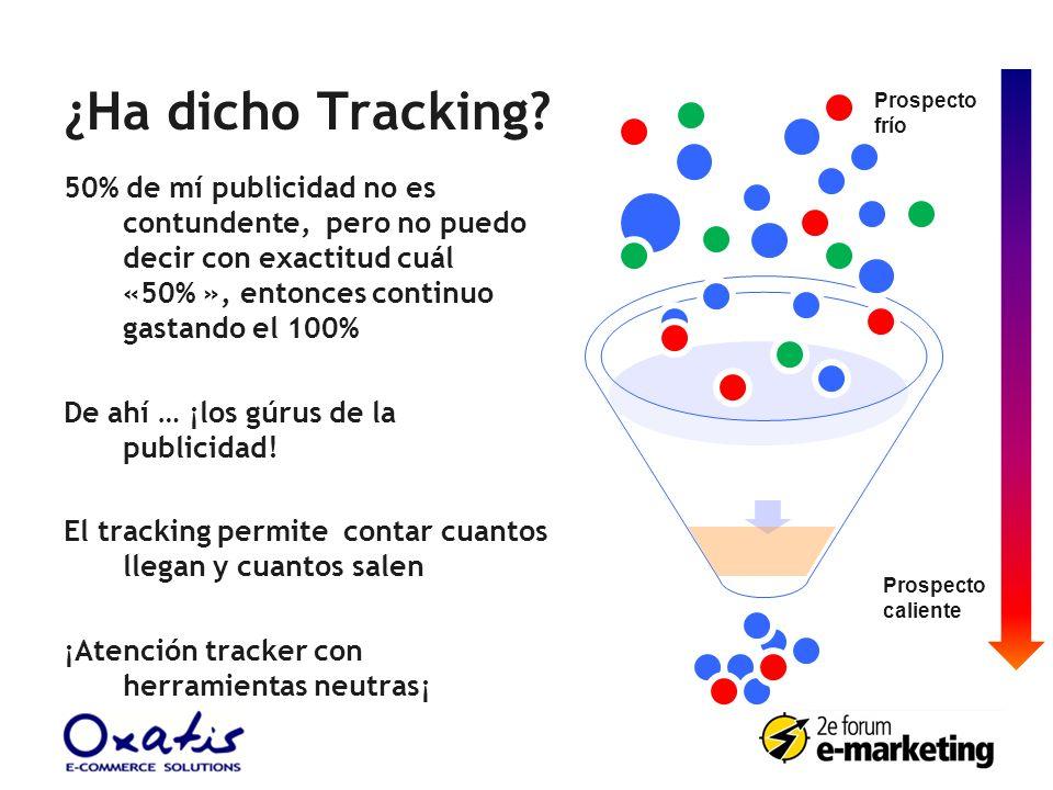 ¿Ha dicho Tracking? 50% de mí publicidad no es contundente, pero no puedo decir con exactitud cuál «50% », entonces continuo gastando el 100% De ahí …