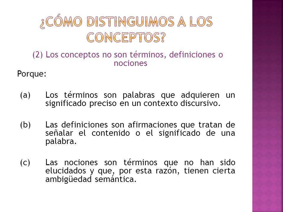 Nota: En el análisis conceptual es común confundir entre condiciones necesarias y suficientes.