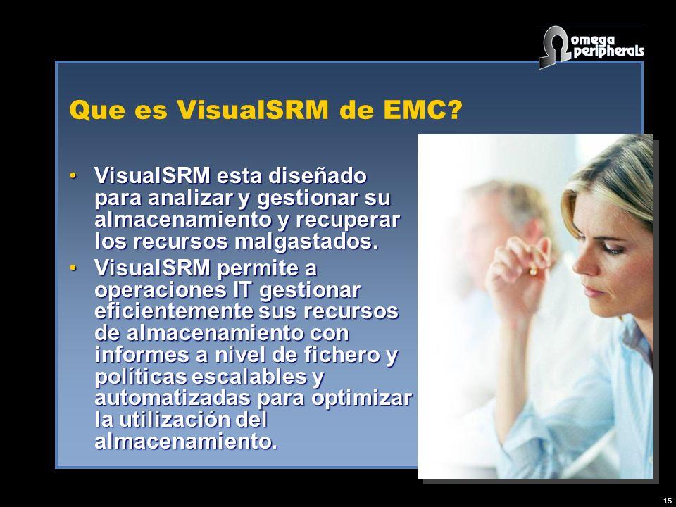 15 Que es VisualSRM de EMC.