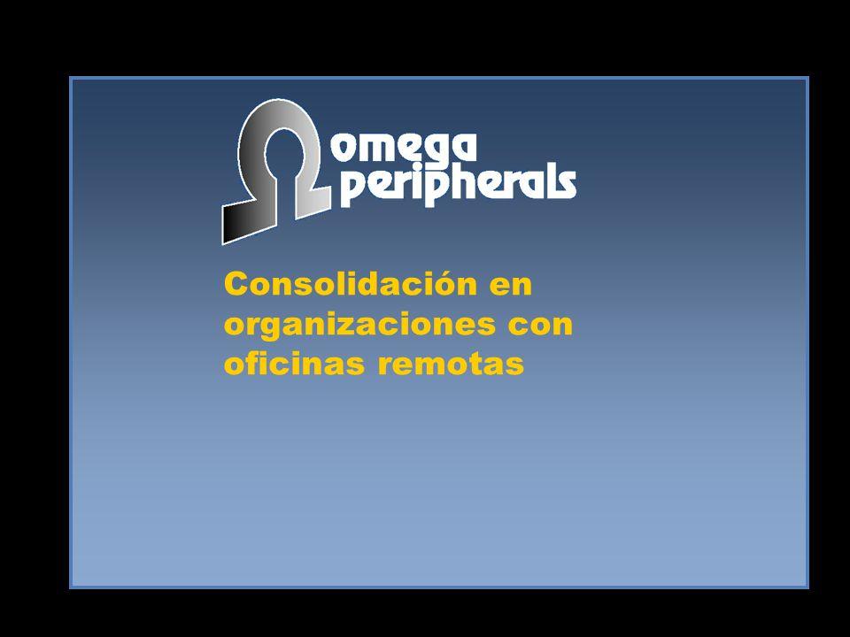Consolidación en organizaciones con oficinas remotas