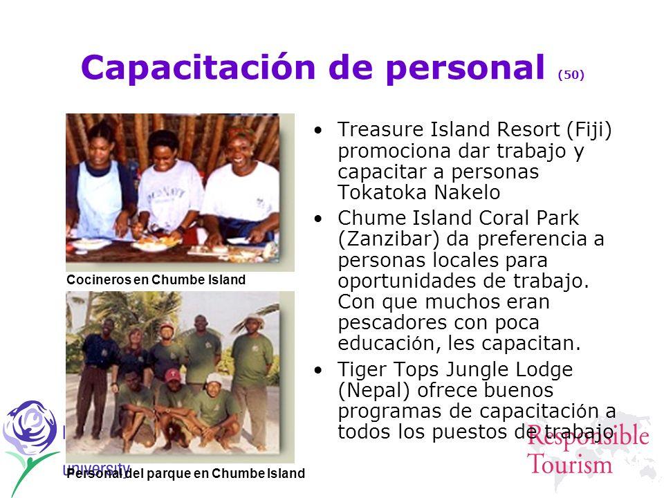 Capacitación de personal (50) Treasure Island Resort (Fiji) promociona dar trabajo y capacitar a personas Tokatoka Nakelo Chume Island Coral Park (Zan