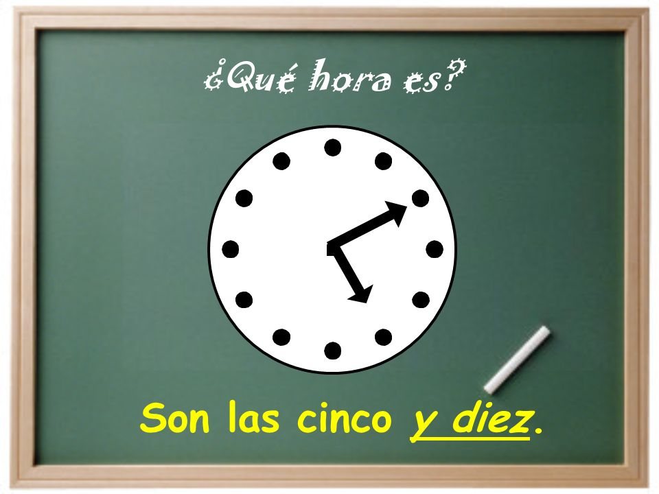 It is… Son las… = Es la… At… A las… = A la… Es la una de la tarde. Tengo clase a la una de la tarde.
