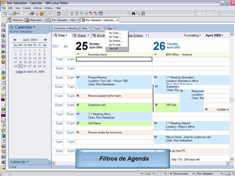 IBM Software Group | Lotus Software © 2005 IBM Corporation 5 Filtros de Agenda
